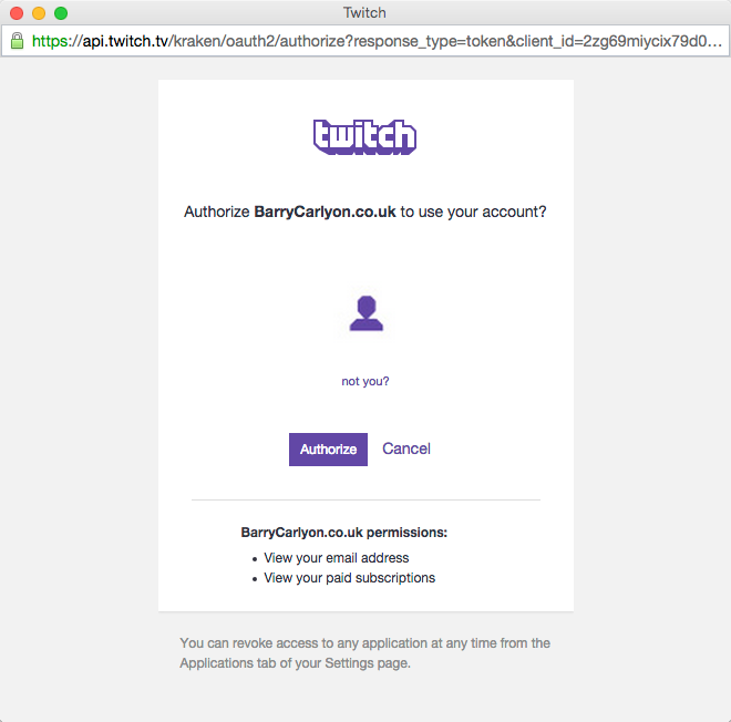 - Forums Oauth Missing From Twitch Name Api Popup Display Developer
