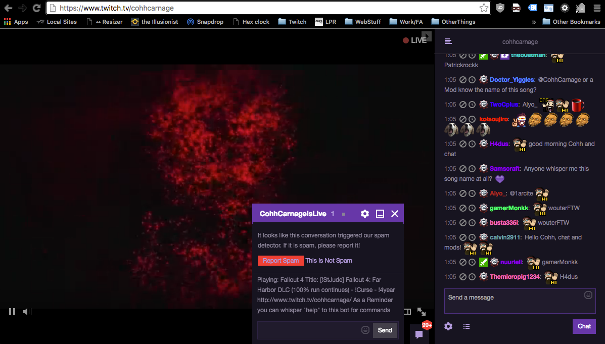 Whitelisted Whisper bot, but flagged for Spam? - Twitch