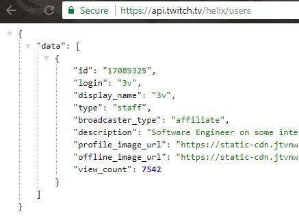 Getting user IDs? - API - Twitch Developer Forums