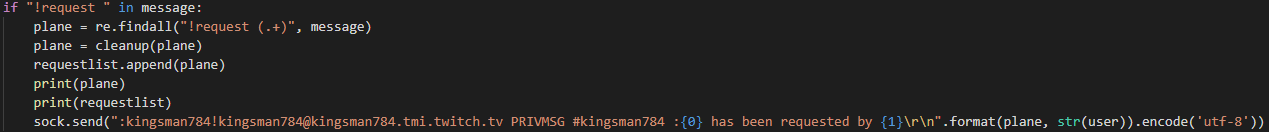 Code for Twitch Chat Bot error