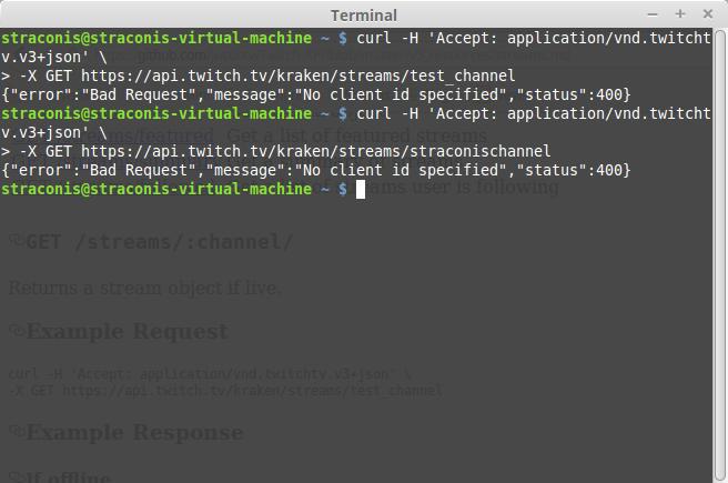 API Stream Query - API - Twitch Developer Forums