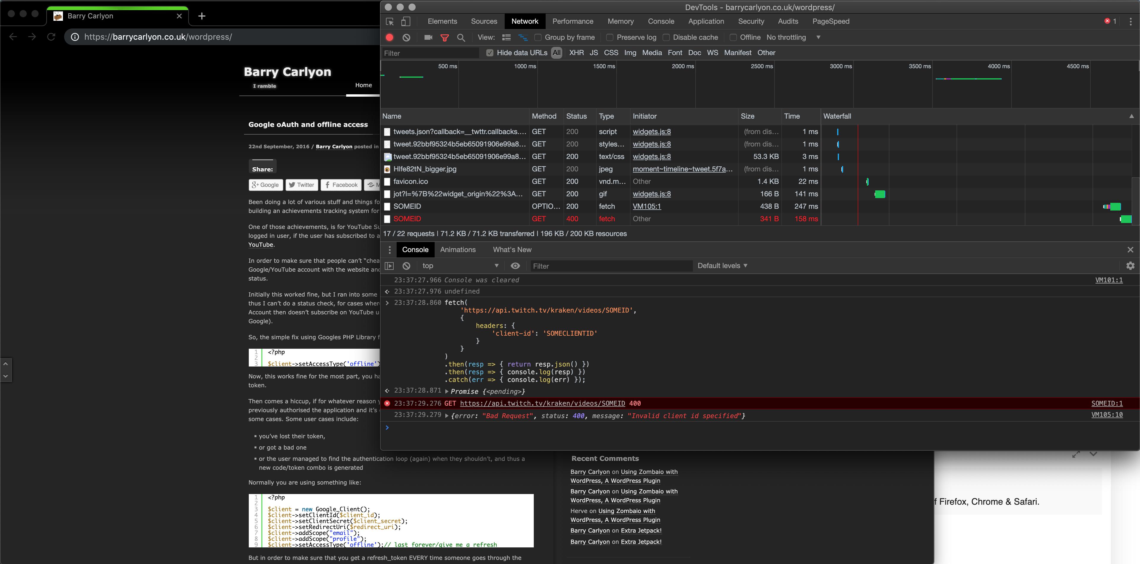 CORS - Wrong 'Access-Control-Allow-Origin' header - API - Twitch